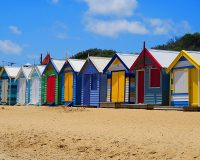 Image of beach huts in brighton on article best cities in uk for shopping