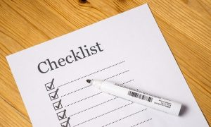 Image of a checklist on what to pack when studying abroad