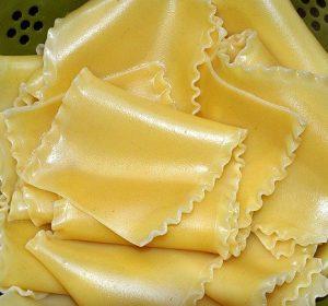 Image of lasagne sheets on vegetarian lasagne recipe