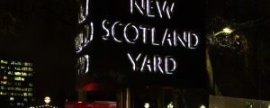 Image of new scotland yard at night on how to stay safe on a night out